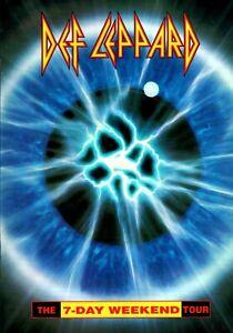 DEF-LEPPARD-1992-1993-7-DAY-WEEKEND-WORLD-TOUR-CONCERT-PROGRAM-BOOK-BOOKLET