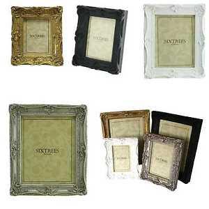 Ornate-Vintage-Antique-Shabby-amp-Chic-Photo-Frame-4-Colours-4x4-6x4-7x5-8x6-10x8