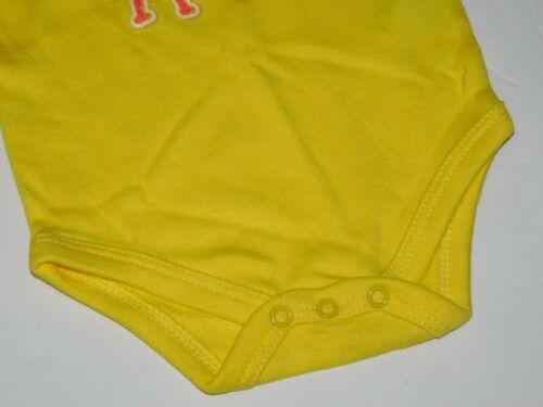 Infant Outfit Girl 0 3 6 9 Month Yellow Clothes DADDY DID MY HAIR Creeper