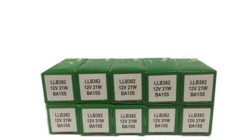10x Genuine Lucas LLB382 382  SCC 12v 21W indicator Fog Reverse Brake bulb 382!!