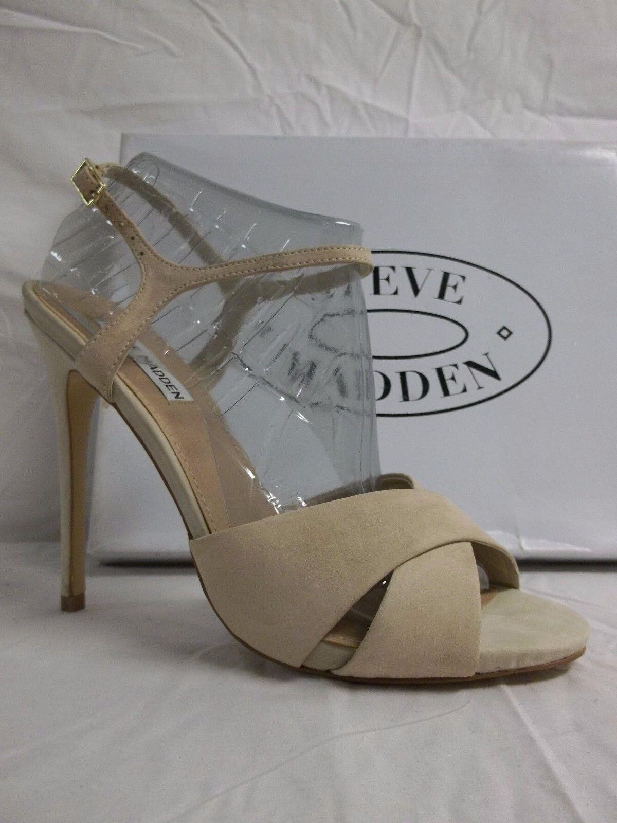 economico e alla moda Steve Madden Dimensione 10 M Make Mee Natural Leather Open Open Open Toe Heels New donna scarpe  marchi di stilisti economici