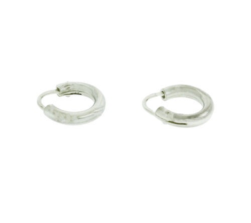 New Small Hoop Earrings in 925 Sterling Silver 8 mm wide 1.6 mm Thick