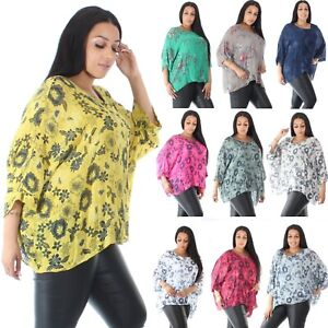 Cotton-Aline-Baggy-Oversized-Linen-Cheese-Cloth-Top-Tunic-Batwing-plus-size-8-20