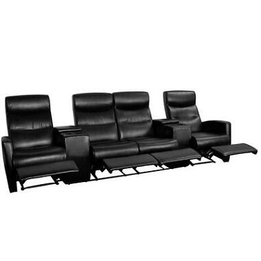 Flash Furniture 4-Seat Leather Recliner