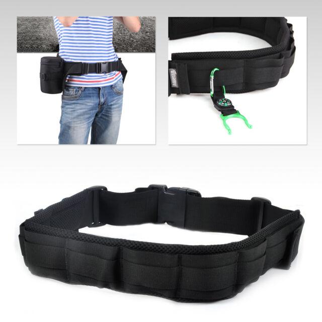 Padded Camera Waist Belt Lens Bag Holder Case Pouch Holder Pack Strap Adjustable
