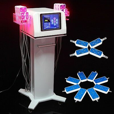 650nm Powerful Diode Lipo Laser LLLT Body Contour Slimming Beauty 12Pads S6