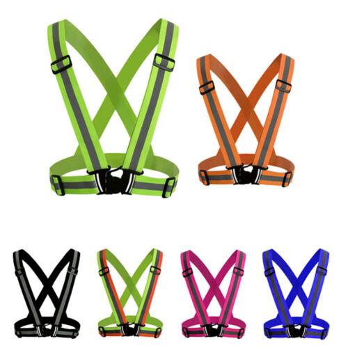 Flashing LED Reflective Belt Vest Strap Band Safety Night Running Cycling Adjust