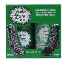 Leather Luster Kit Hi Gloss Patent Leather Finish Black Military Shoe Shine