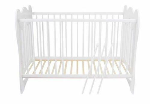 Weiß lackiert Gitterbett Babybett Marvin 120x60 cm Amigos Kinderbett