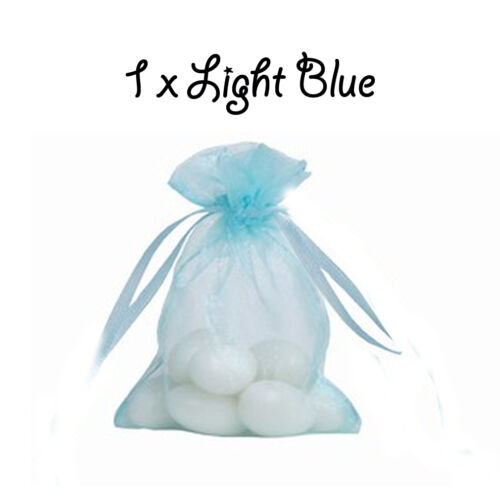 Light Blue Organza Gift Pouch Wedding Favour Jewellery Bags 23 Colour /& 10 SizeS