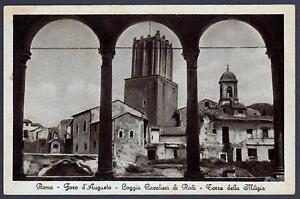 ROMA-CARTOLINA-FORO-D-039-AUGUSTO-LOGGIA-CAVALIERI-DI-RODI-TORRE-MILIZIA-FP-VG-1932