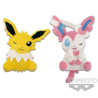 "100/% authentic Pokemon Relaxing Eevee 11/"" Plush Doll Banpresto"