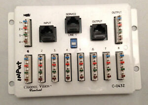 NEW CHANNEL VISION C-0432 1 In / 8 Out 110/RJ45 Telecom Distribution Module