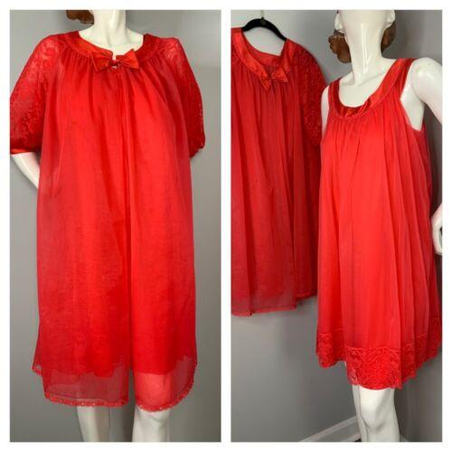 Vintage Vanity Fair Peignoir Nightgown Robe Set Kn