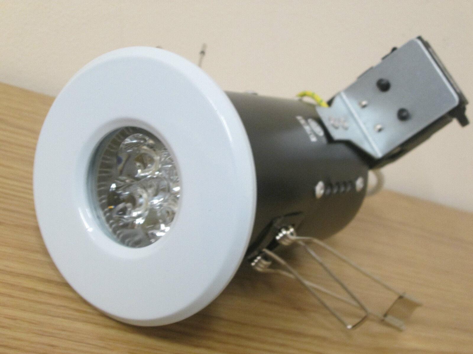 10 X FIRE RATED 4 WATT LED Weiß GU10 IP65 BATHROOM DOWNLIGHT WARM Weiß NEW