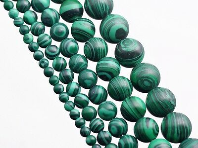 Round Bright Green Malachite Gemstone Loose Spacer Beads 4mm 6mm 8mm 10mm 12mm