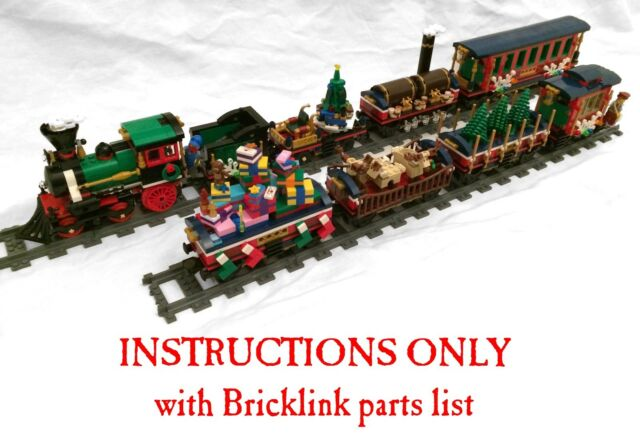 INSTRUCTIONS for SIX Lego custom Christmas cars for 10254 Winter Village Train