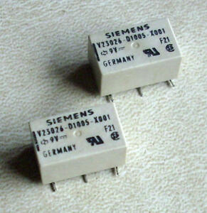 M3876 2 x SIEMENS V23026-D1005-X001 // 9V 1A V23026D1005X001