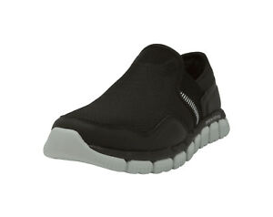 3ca7ad6e7edd SKECHERS Skech Flex 2.0 Wentland Black Gray Slip On Memory Foam ...