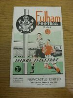 31/03/1951 Fulham v Newcastle United  (folded, rusty staples, team changes). Tha