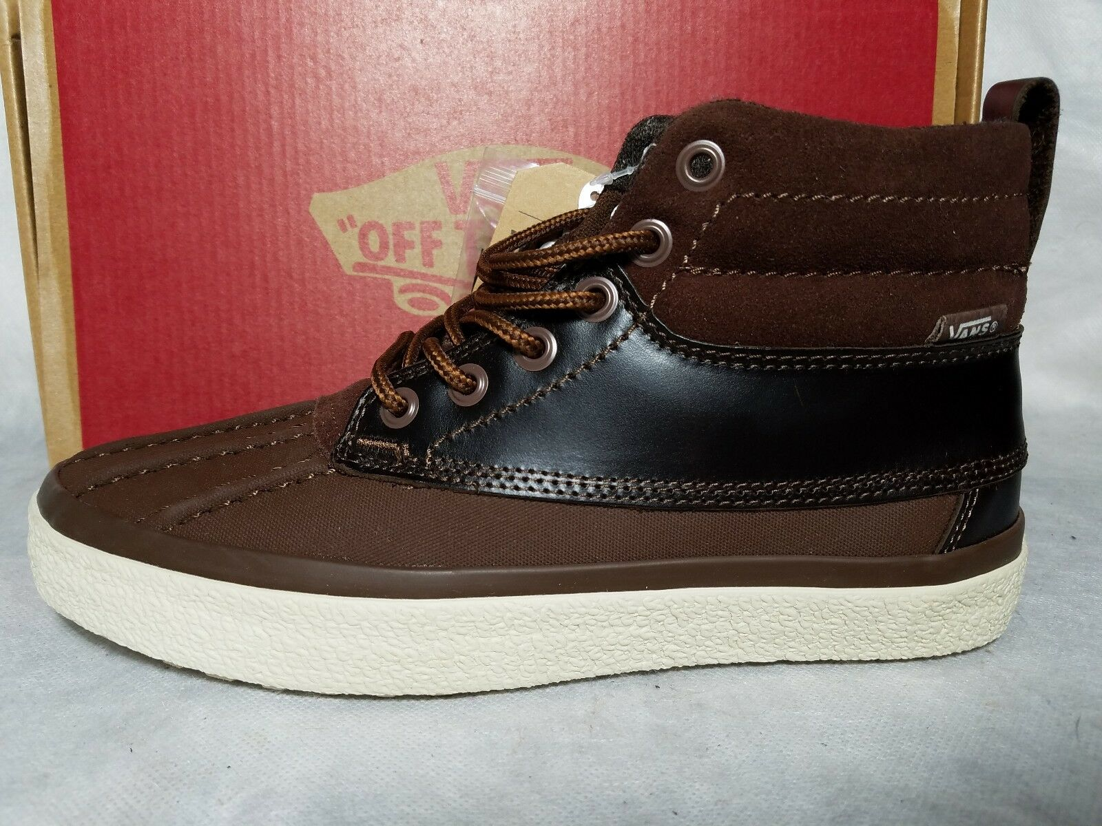 New Vans SK8-Hi Del Pato Hiking MTE Leather Suede Brown Hiking Pato Skate Shoe Men Size 6.5 ba5517