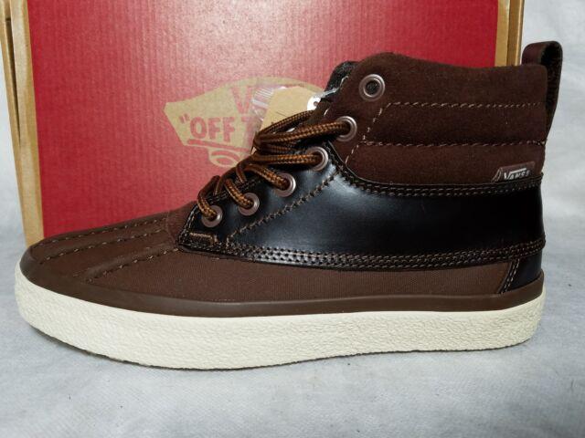 127fe16c1e7913 New Vans SK8-Hi Del Pato MTE Leather Suede Brown Hiking Skate Shoe Men Size