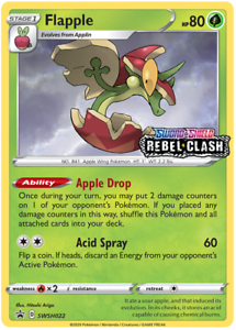 Flapple-SWSH022-Pre-Release-Promo-Holo-Pokemon-TCG-Sword-and-Shield-Rebel-Clash
