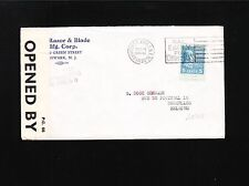 Prexie WWII Censor PC 66 #2307 Church Annex NY Club Razor 1939 Belgium Cover Ä