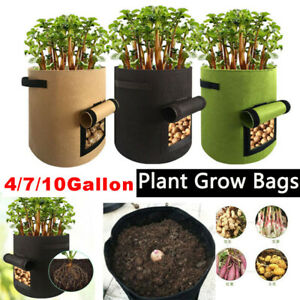 Potato Grow Bag Planter Container Pouch Root Plant Growing Pot with Side Window
