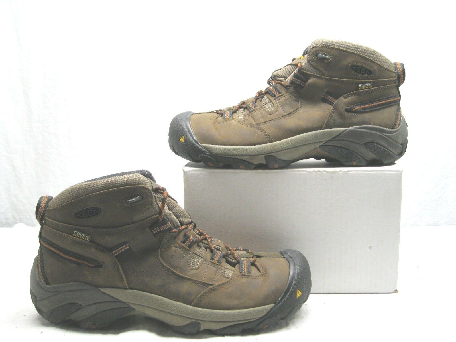 KEEN utilidad 1007009 para hombre Detroit Mediados Soft Toe WP Bota Negro Oliva 12 D