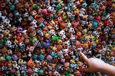 Littlest Pet Shop Collection Cute Animals Figures Lot 20 PCS Ramdon Child Toys