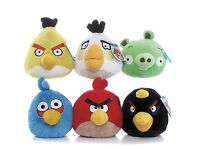 "NEW OFFICIAL 8"" PLUSH ANGRY BIRDS AND ANGRY PIG SOFT TOY ANGRY BIRDS COLLECTION"