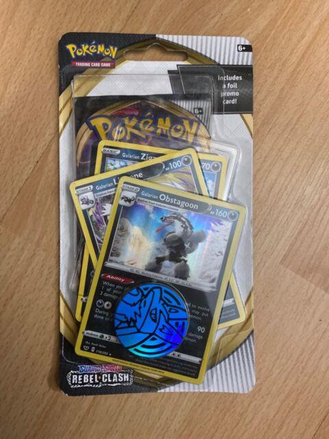 Pokemon Rebel Clash TCG Booster Blister Pack w/ Foil Promo Card & Coin