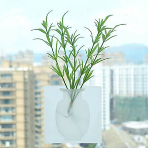 3-Home-Suction-Cup-Wall-Mounted-Plant-Holder-Decorative-Flower-Container-Useful