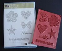 Stampin' Up floral Fillers Cling Foam Stamp Set