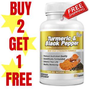 Turmeric-95-Curcumin-amp-Black-Pepper-60-Capsules-Tablets-Pills-Extra-Strength