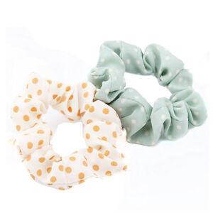 10pcs-Girl-Elastic-Scrunchie-Dot-Print-Ponytail-Holder-Hair-Band-Rope