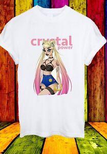 Sailor-Moon-Usagi-Tsukino-Anime-Manga-Hombre-Mujer-de-energia-de-cristal-Unisex-Camiseta-814