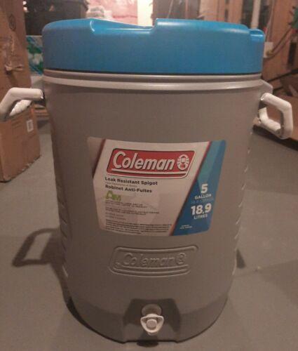 leak resistant spigot *NEW* Coleman Antimicrobial Lined Jug 19-L 5 Gallon