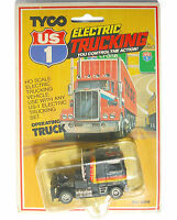 1981 Tyco Us-1 Ho Slot Car Gmc Cabover Peterbilt Pb Black/orn/red/yel 3909 Rare
