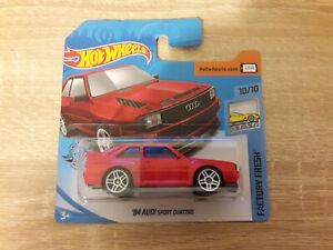2020-Hot-Wheels-039-84-QUATTRO-de-AUDI-SPORT-1-64-1-64-fabrica-fresca-10-10-Rojo