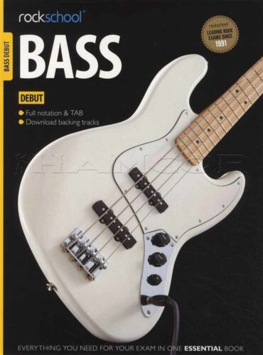 Rockschool Bass Guitar Debut 2012-2018 TAB Book//Audio Songs Exercises Tests Exam