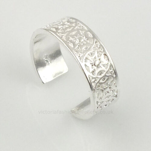 Silver Plated CELTIC CROSS RING Size /'I/' Toe//Pinkie Ring ADJUSTABLE Maltese