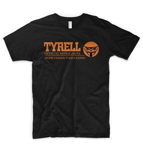 Blade Runner T Shirt Tyrell Génétique Réplicants Plus Humain Que L'homme Tech Noir-afficher Le Titre D'origine Artisanat Exquis;