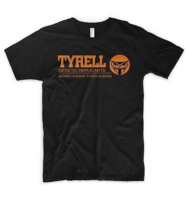 Blade Runner T Shirt Tyrell Genetica I Replicanti Più Umano Di Uomo Tech Noir-mostra Il Titolo Originale