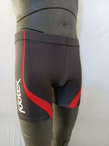 FOOTEX Pantaloncino Fuseaux Unisex Running Colore Nero//Rosso Poliestere//Lycra