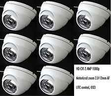 8x HD-CVI 1080p 2.4MP Motorized Zoom Auto Focus 2.8-12 VF Dome Cameras Sony CMOS