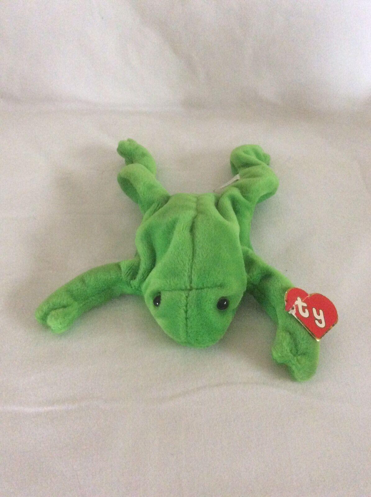1960b0529b2 Ty LEGS The Frog Made In Korea PVC Plush Stuffed Animal 1993 ...