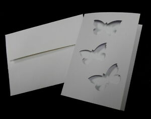 DIY-Greeting-Card-Handmade-BUTTERFLY-WINDOW-CARD-BLANKS-with-ENVELOPES-x-5