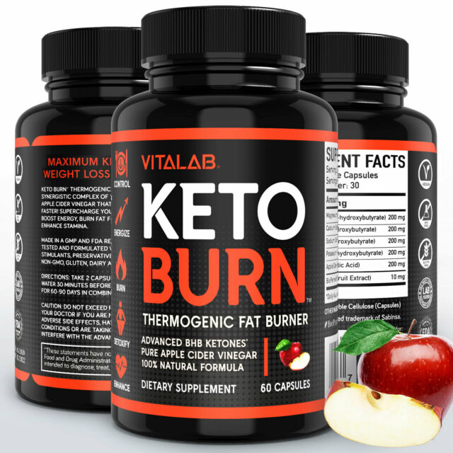 Keto Burn Weight Loss Diet Pills Ketogenic 1000mg BHB Supplement 60 Capsules